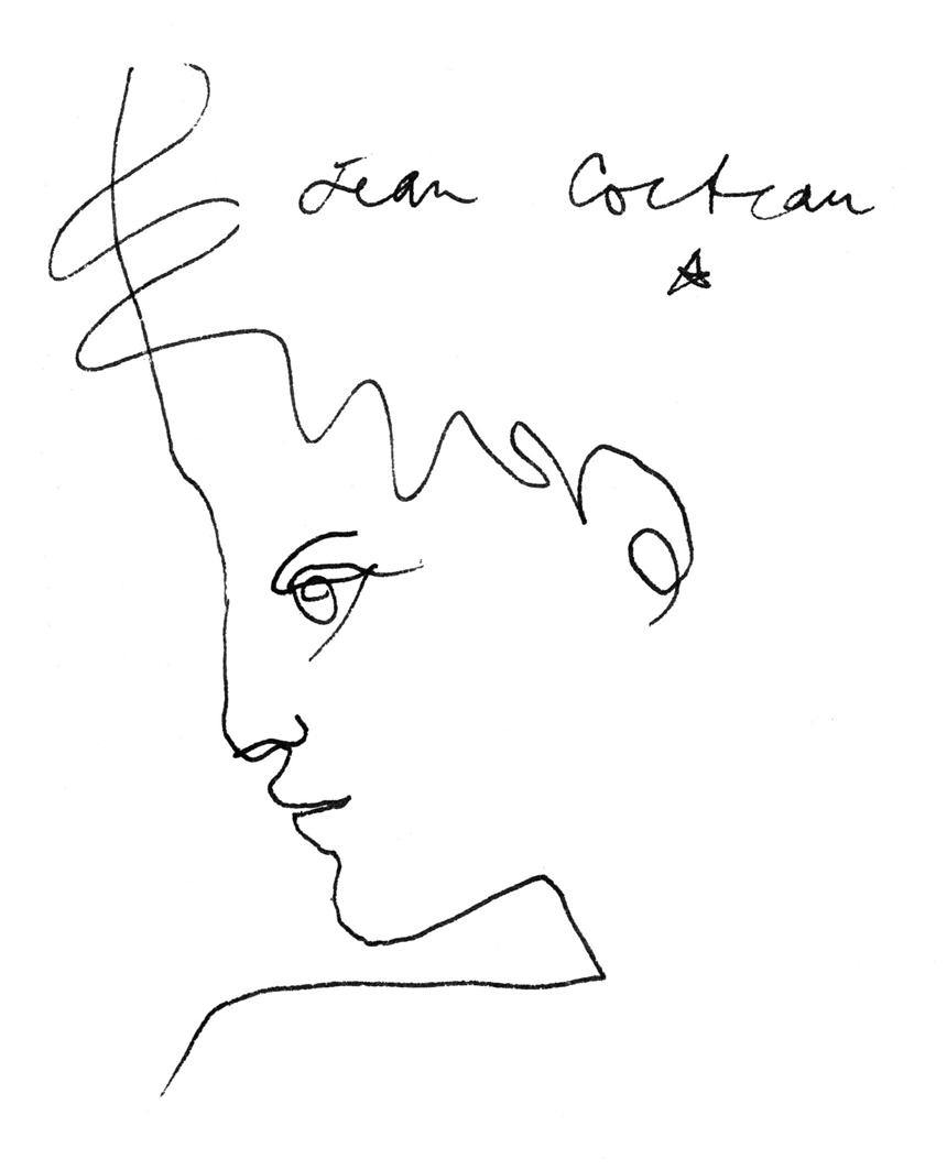 Jean Cocteau Profil de jeune homme