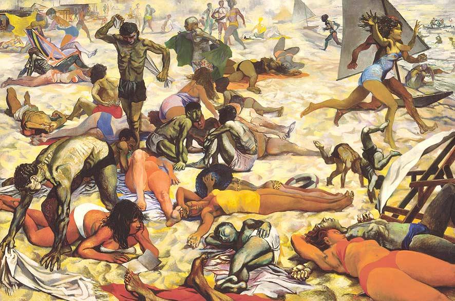 Renato Guttuso, La spiaggia, 1955-1956