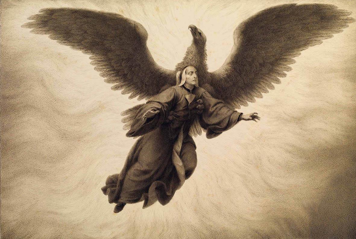 Francesco Scaramuzza - Divina Commedia, Purgatorio canto IX, Dante sogna di essere afferrato da un'aquila