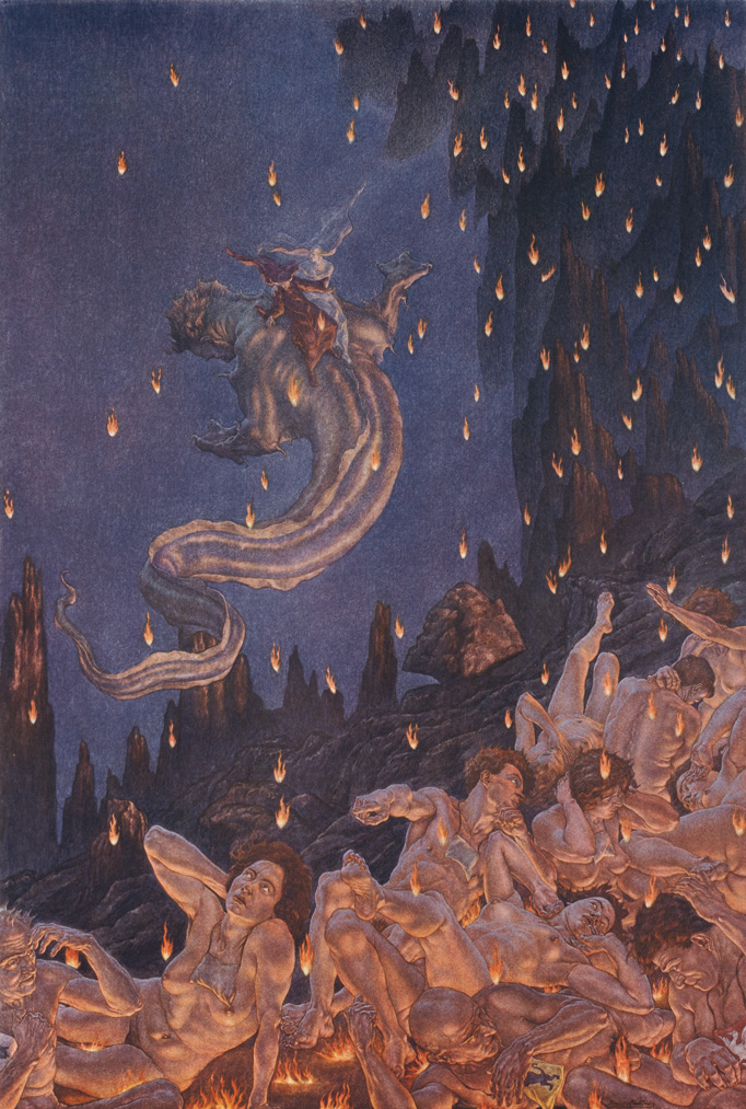 Amos Nattini - Divina Commedia, Inferno canto XVII, Gerione