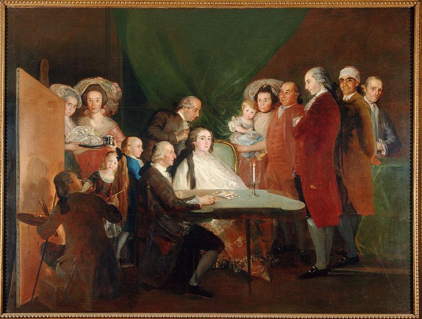 Francisco de Goya y Lucientes La famiglia dell'infante don Luis, 1783-1784 olio su tela, cm 248 x 328.