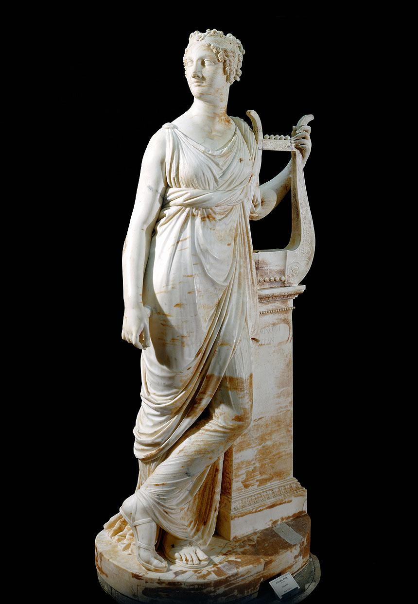 Antonio Canova, Tersicore, 1811, marmo di Carrara