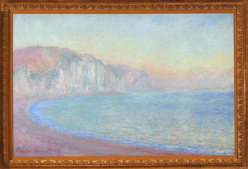 Claude Monet Falaises à Pourville,soleil levant,1897, olio su tela cm 66 x 101