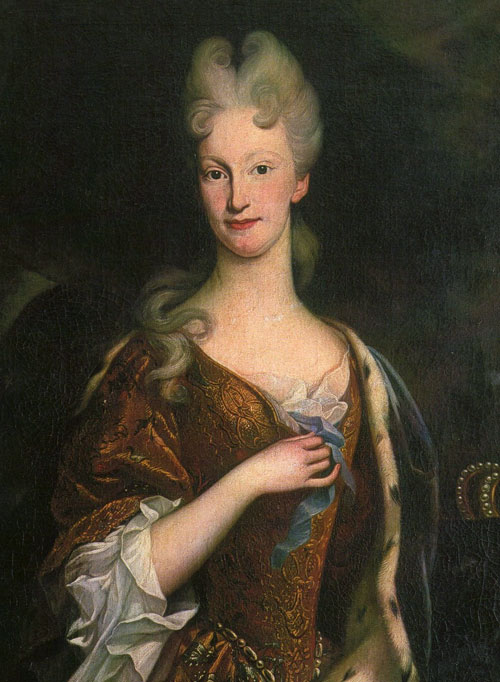 Elisabetta Farnese. Copia del dipinto della cerchia dello Spolverini conservato nella Galleria Nazionale di Parma.