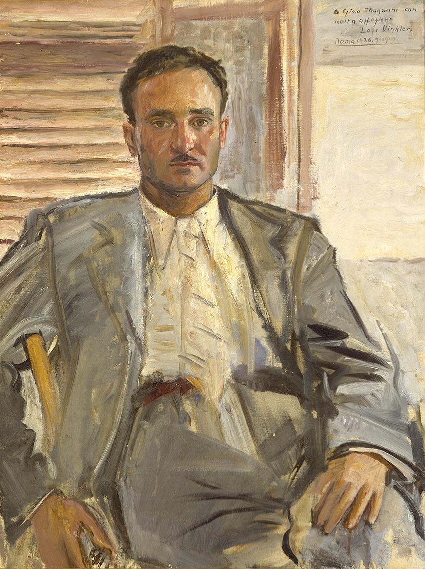 Laszlo Vinkler, Ritratto di Luigi Magnani, 1936, olio su tela