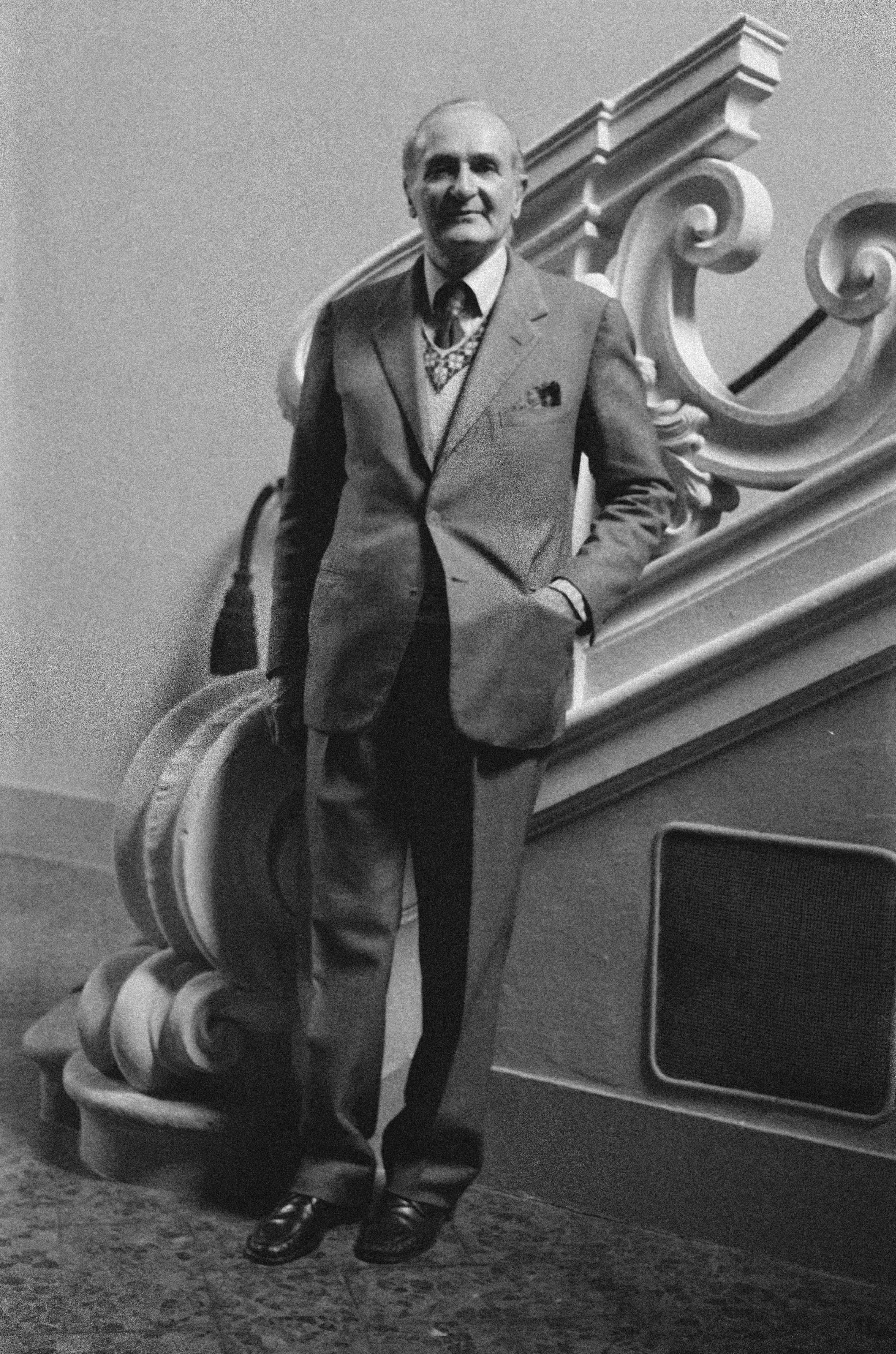 Luigi Magnani - ritratto da Milton Gendel (1977)