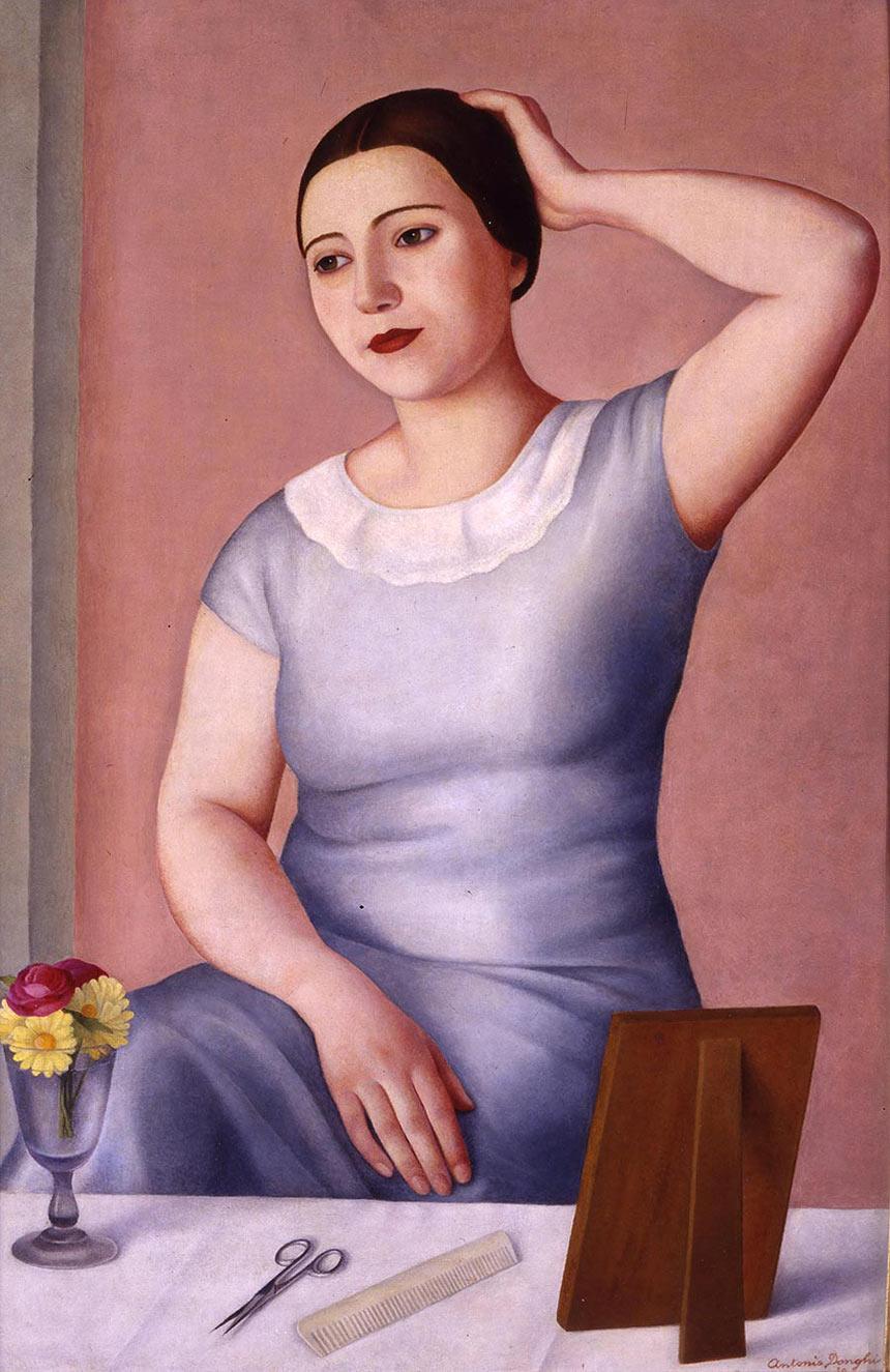 Antonio Donghi - Donna alla toletta 1930
