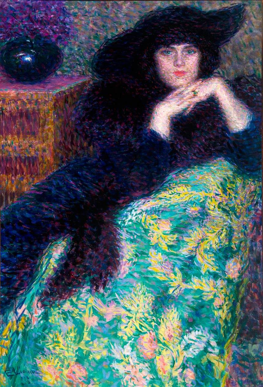 Enrico Lionne, Violette, 1913, olio su tela. Galleria d'Arte Moderna