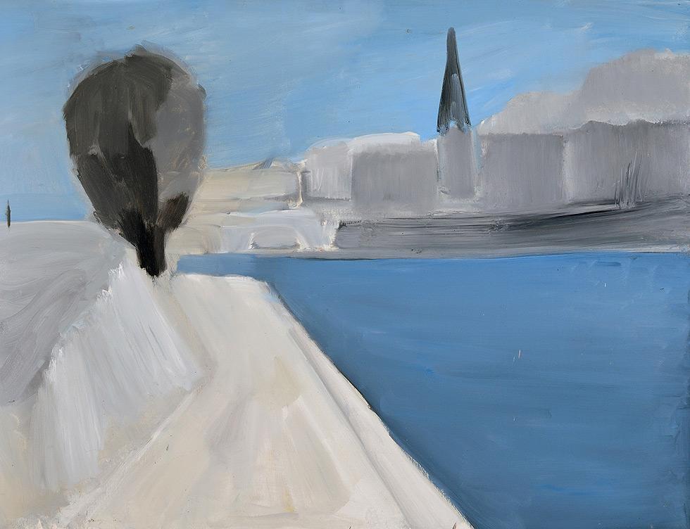 Nicolas de Stael, Vue des quais de Paris, 1954