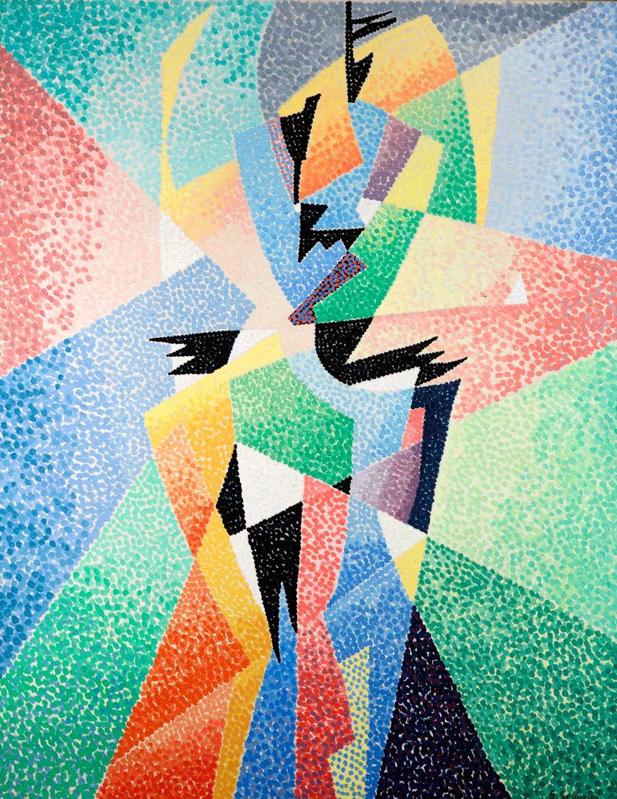 Gino Severini, Danseuse, 1957-1958, olio su tela