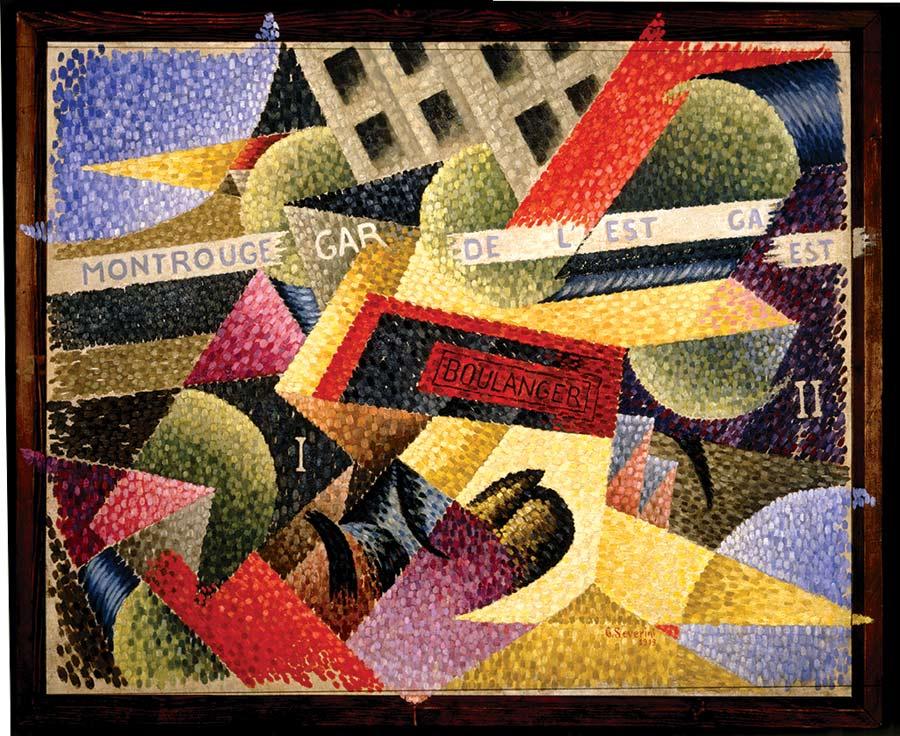 Gino Severini, Lumière + Vitesse + Bruit. Interpénétration simultanée, 1913, olio su tela