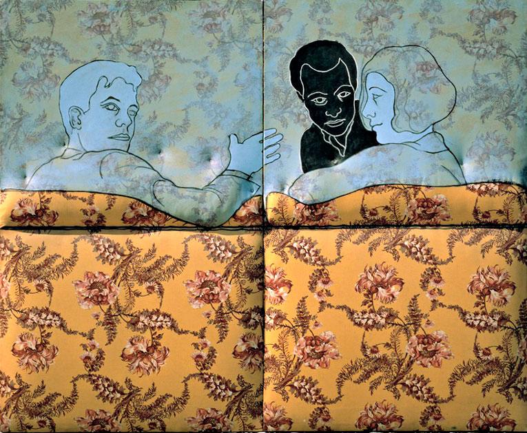 Cesare-Tacchi-Sul-divano-a-fiori-1965-inchiostro-e-smalto-su-stoffa-imbottita-su-legno-159-x-200x7-cm-(1)