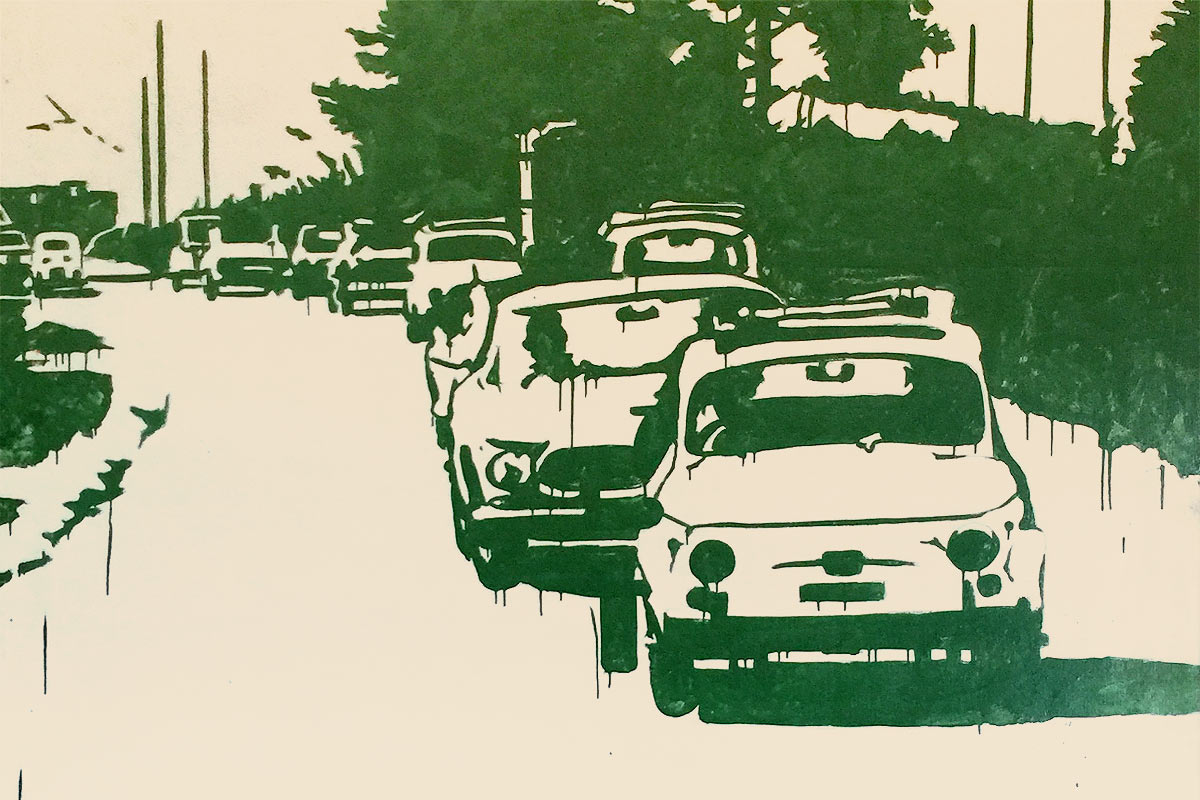 Roberto-Barni,-Fiat-500,-1964,-smalto-su-tela-big
