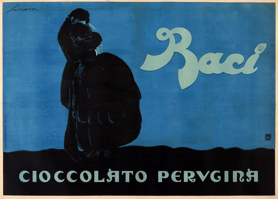 20abed724 Federico Seneca, Baci Cioccolato Perugina, 1928. Collezione Bellenda,  Galleria L'Image, Alassio (SV)