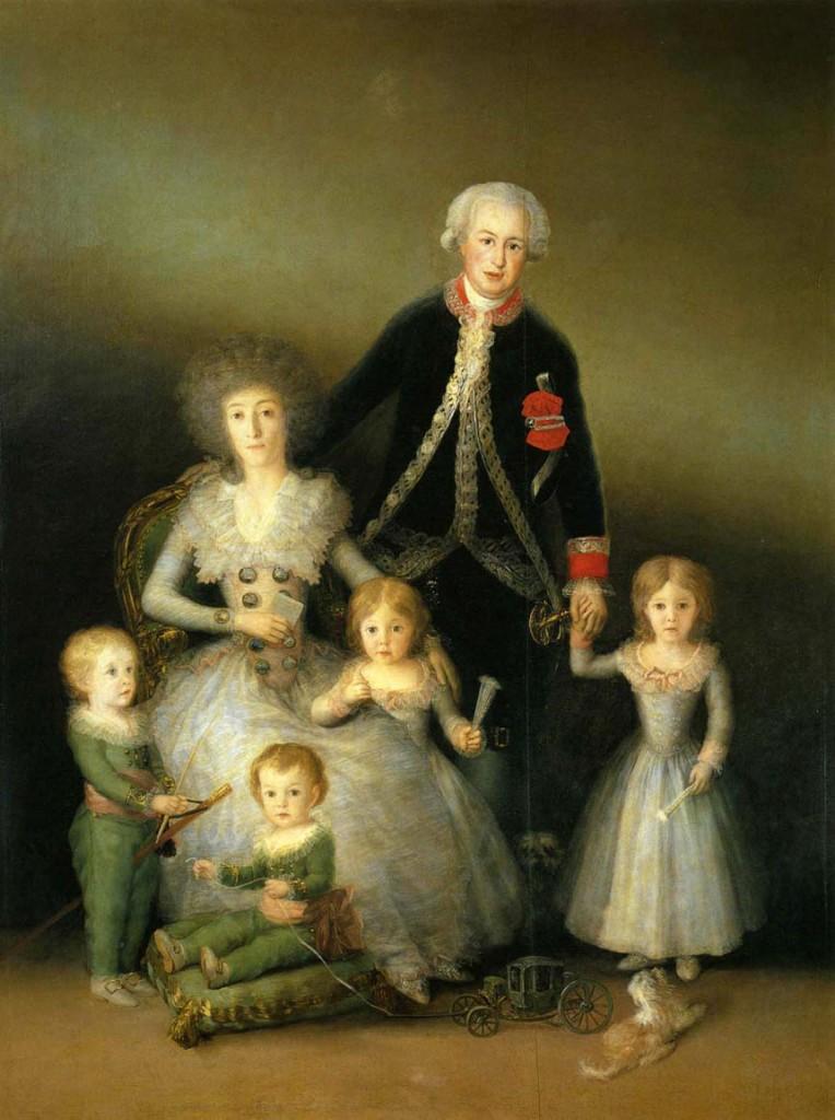 Francisco Goya, La famiglia dei duchi di Osuna, 1787-88