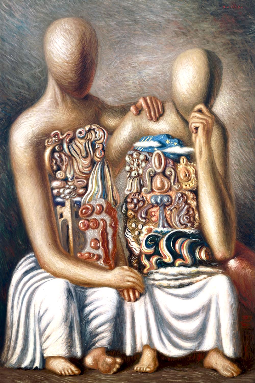 Giorgio de Chirico, Le consolateur (particolare). 1929, olio su tela Collezione Barilla di Arte Moderna, Parma. © Giorgio de Chirico, by SIAE 2019